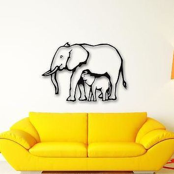 Wall Stickers Vinyl Decal Elephant Baby Animal Nice Room Decor Unique Gift (ig615)