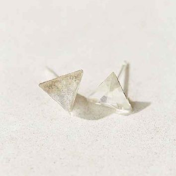 Diament Jewelry X Urban Renewal Clear Triangle Crystal Stud Earring