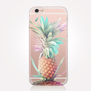 Transparent Pineapple iPhone Case- Transparent Case - Clear Case - Transparent iPhone 6 - Transparent iPhone 5 - Samsung S7 - Gel Case