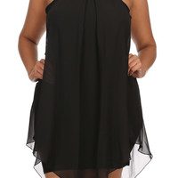 The Edie Plus Size Embellished Halter Dress
