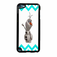 Olaf Disney Frozen Blue Chevron iPod Touch 5th Generation Case