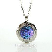 Fantasy Creature locket pendant Game of Thrones Necklace, Dragon Egg Pendant   locket  Pendant Necklace Choker Necklace N583