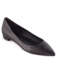 Via Spiga Leather Velvet Flats