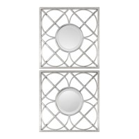 Yasmina Silver Square Mirrors Set of 2 by Uttermost