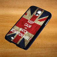 Keep Calm Watch Downton Abbey For Samsung Galaxy S4 Case *76*