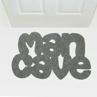 Doormat Man Cave. Home decor for him. Men gifts.