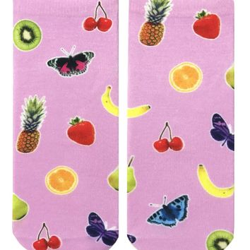 Fruits & Butterflies Ankle Socks
