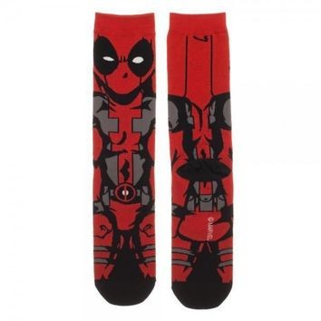 Marvel Comics Deadpool Men's 360 Crew Socks