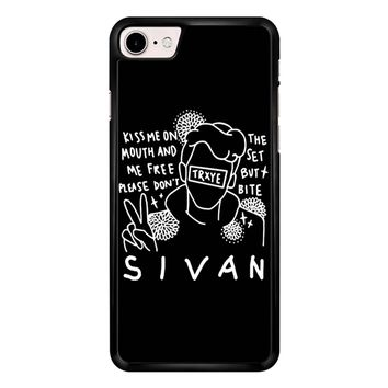 Troye Sivan Art Kiss Me On Mouth Arf 001  iPhone 7 Case