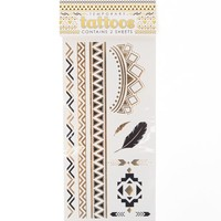 With Love From CA Aztec Flash Tattoo Set - Womens Scarves - Gold - NOSZ