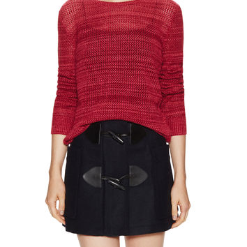 See by Chloe Women's Maglia Wool Open Knit Sweater - Pink -