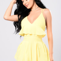 Free To Be Romper - Yellow