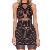 Shona Joy The Desired Bodycon Dress in Black