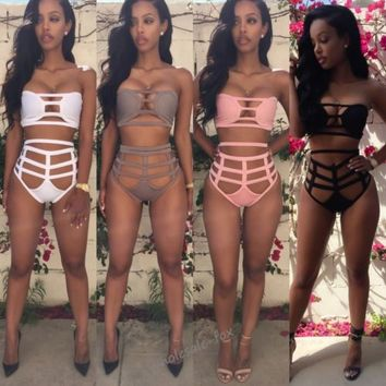 Sexy Womens Strappy Bandage Bikini Set Swimwear Swimsuit Beachwear Bathing Suit