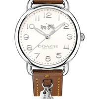 COACH Delancey Leather Strap Watch, 36mm | Nordstrom