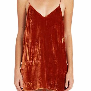Marni Velvet Deep V Slip Dress