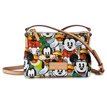 Mickey Mouse and Friends Faces Crossbody Pouchette by Dooney & Bourke