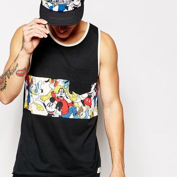 Vans X Disney Vest In Mickey And Friends Print