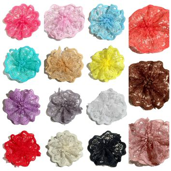 "GRAB BAG 1.8"" scalloped lace ballerina flower / 5-20 flowers"