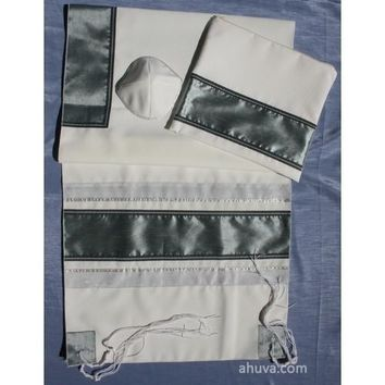 Grey & Silver Panel Tallit Set