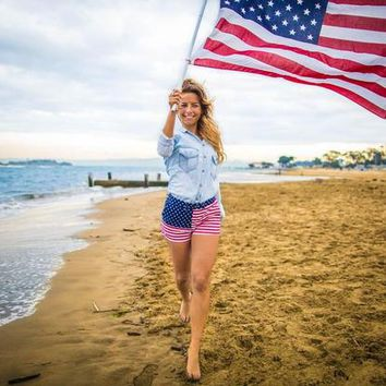 The Miss 'Mericas 2.0 | Chubbies Women American Flag Shorts – Chubbies Shorts
