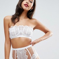 ASOS Cody Embroidered Lace Underwire Bra and Pant Set at asos.com