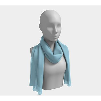 Solid Long Scarf - Light Blue
