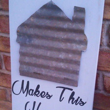 Rustic family sign - housewarming gift - gift for her - new home gift - Realtor gift - home sign