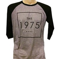 The 1975 T Shirt Rock Band Logo Gray Size M R53