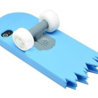 Skyblue 3D Skateboard Cartoon Silicone Stand Skin Case for iPhone 4/4S/4G:Amazon:Cell Phones & Accessories