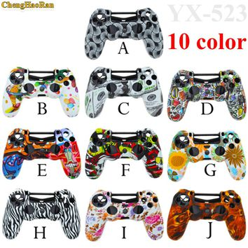 10x Camouflage Camo Silicone Gel Rubber Soft sleeve Skin Grip Cover case for Dualshock 4 Playstation 4 PS4 Pro Slim Controller