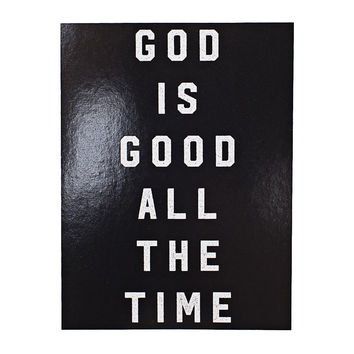 God Is Good Black Sticker