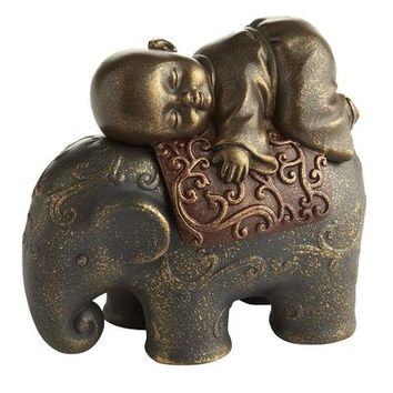 Monk on Elephant Box