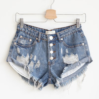 Celeste Button Shorts