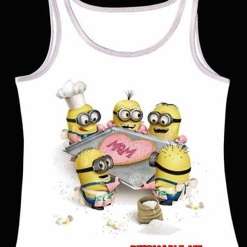 Track Ship+Vintage Vest Tanks Tank Tops Camis Happy Minions Cook Cooker A Love Heart Cake Despicable Me 0099