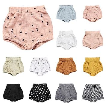 2017 Kids Baby Boy Girl Cotton Bottom Infant Bloomer Briefs PP Pants Shorts Diaper Cover Panties 0-5Y