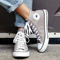 Converse All Star Sneakers Adult Leisure  High-Top Leisure shoes Grey