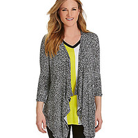 Joan Vass New York Speckled Cardigan - Black/White