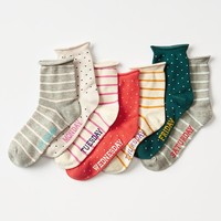 Gap Girls Printed Days Of The Week Socks 7 Pack