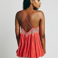 FP One Embroidered Crochet Swing Tank at Free People Clothing Boutique