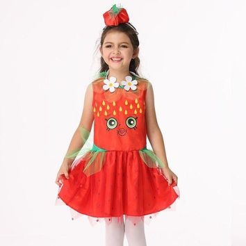 DCCKH6B EK210 Europe and America Halloween children Costume Girls Cosplay Animation Costume play spider clothing Summer Girl Dress