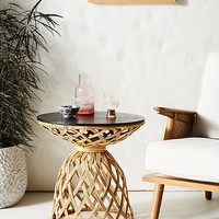 Crosshatched Side Table