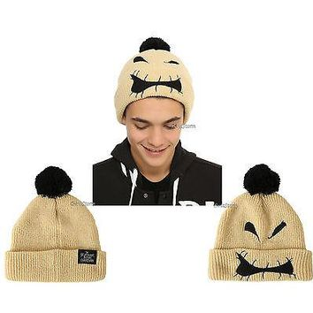 Licensed cool NEW Disney The Nightmare Before Christmas Oogie Boogie Unisex Pom beanie cap hat