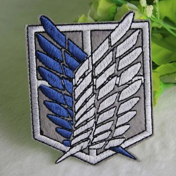 Cool Attack on Titan New Anime  Embroidered Patch Cosplay Patches Jacket Back Badge sticker 22*16.5cm AT_90_11