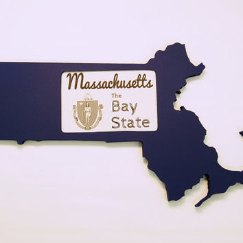 Massachusetts picture frame 4x6