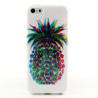 Colorful Pineapple Pattern Soft TPU Phone Case Cover For iPhone 5C