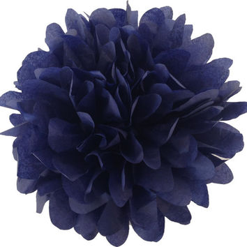 18 inch large Navy Blue pompom,party poms,birthday pompoms,Firstbirthday,baby shower,hanging poms,nursery pom pom,pompoms,party decorations