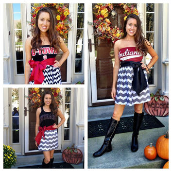 Custom Game Day Dress College NFL Any Sport by LaughyLaffyGirl