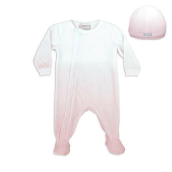Coccoli Baby Girls' Pink Ombre Zipper Velour Footie and Cap