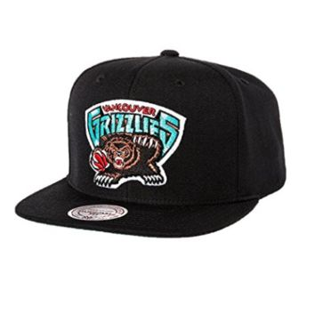 Vancouver Grizzlies Mitchell & Ness Logo Snapback Cap Hat Black